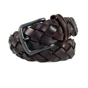 ABERCROMBIE & FITCH Men's Braided Leather Belt
